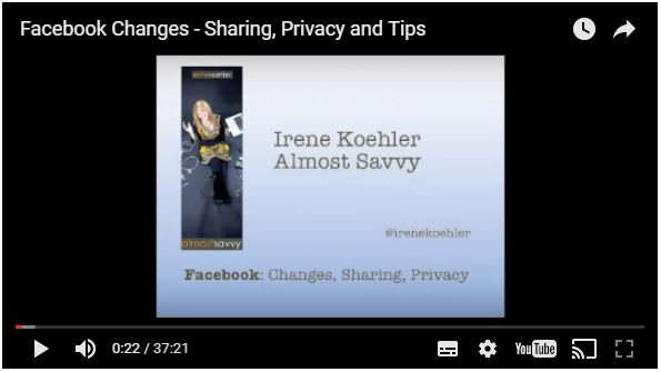 facebookchanges - Facebook Sharing and Privacy Tips (Video)