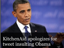 CNN Obama KitchenAid - Your Brand Screwed-Up On Social Media, Now What?